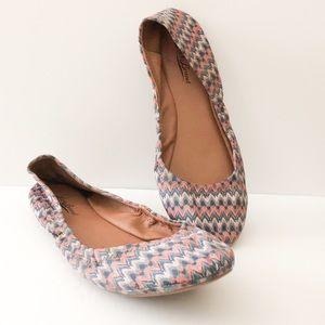 Lucky Brand fabric ballet flats chevron
